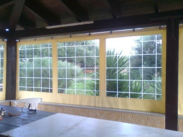 Chiusure trasparenti laterali x strutture esistenti pvc ebay for Costo del portico anteriore